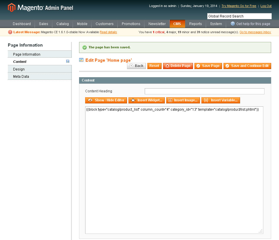 Home-page---Manage-Content---Pages---CMS---Magento-Admin-2014-01-19-17-47-53